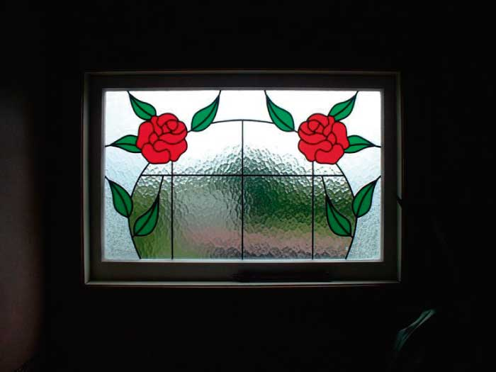 N2 ART NOUVEAU STAINED GLASS