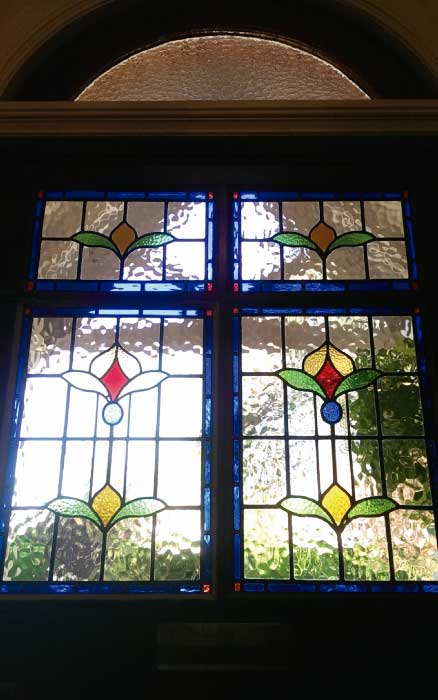 E8 EDWARDIAN STAINED GLASS