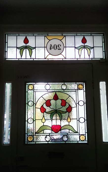 E9 EDWARDIAN STAINED GLASS