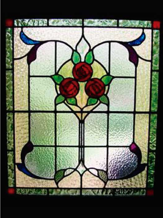 E11 EDWARDIAN STAINED GLASS