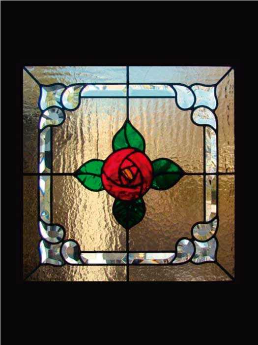 N6 ART NOUVEAU STAINED GLASS
