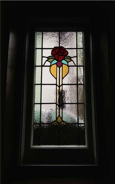 E17 EDWARDIAN STAINED GLASS