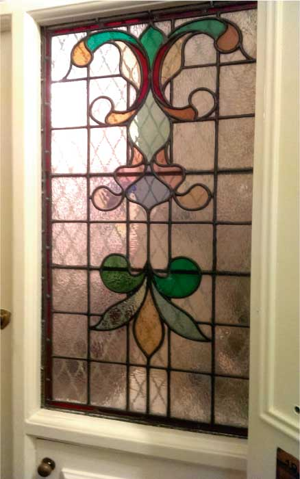 E18 EDWARDIAN STAINED GLASS