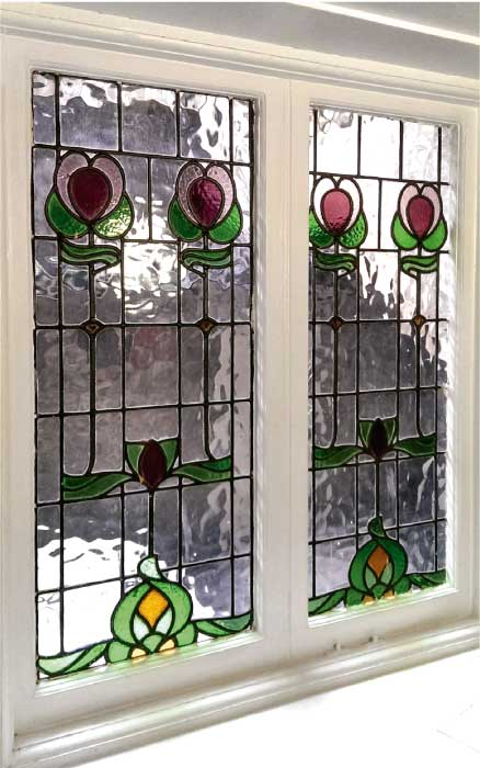E22 EDWARDIAN STAINED GLASS