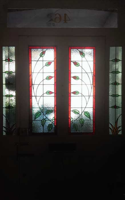 E23 EDWARDIAN STAINED GLASS