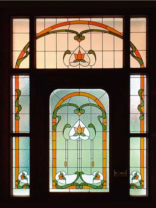 E2 EDWARDIAN STAINED GLASS