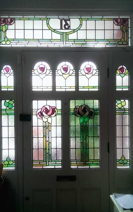 E3 EDWARDIAN STAINED GLASS