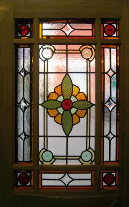 E4 EDWARDIAN STAINED GLASS