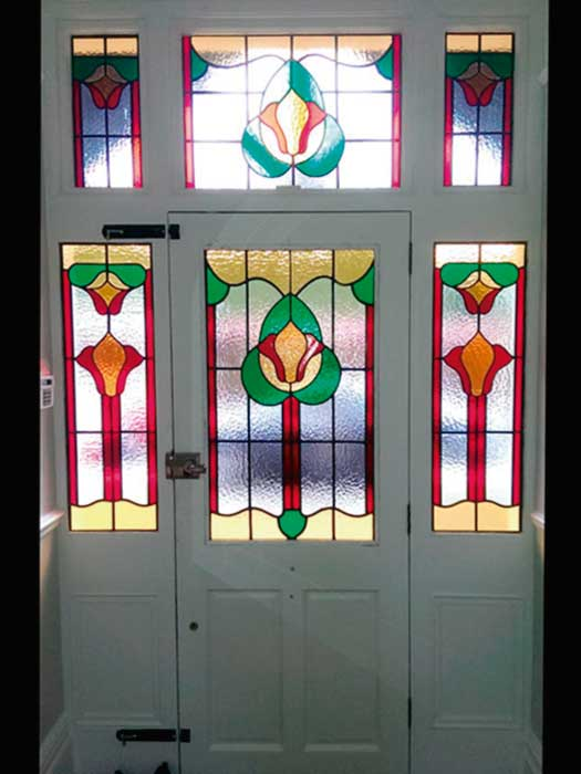 E5 EDWARDIAN STAINED GLASS