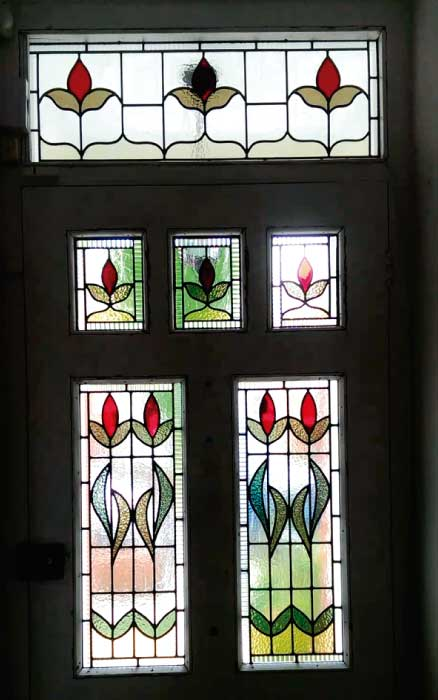 E6 EDWARDIAN STAINED GLASS