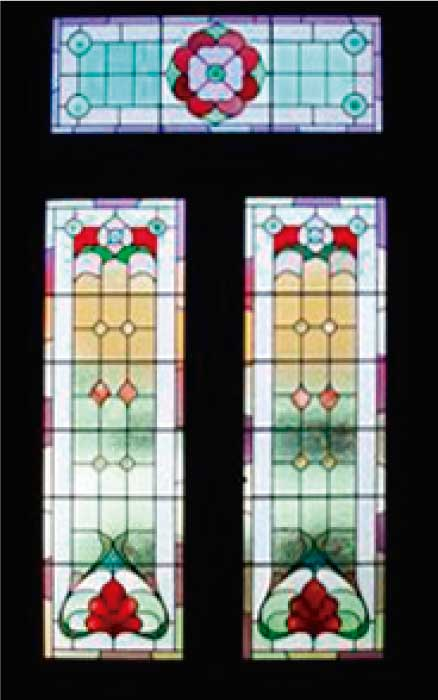 E7 EDWARDIAN STAINED GLASS