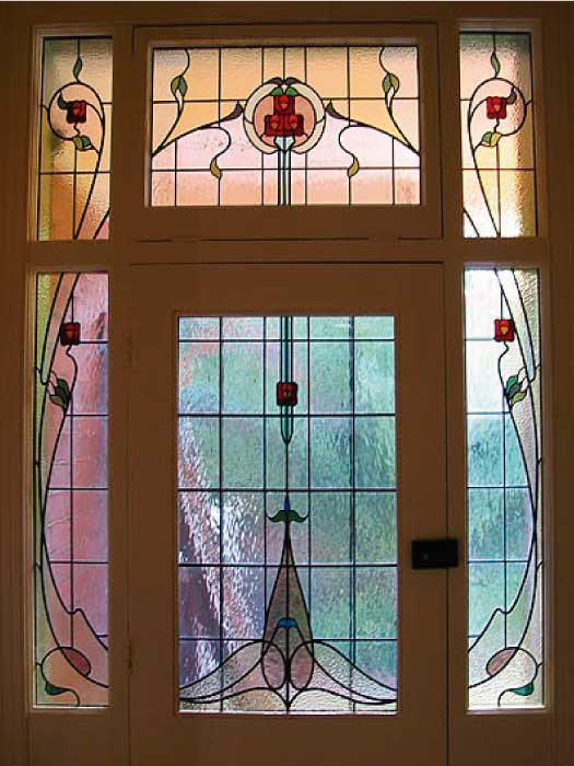 N4 ART NOUVEAU STAINED GLASS