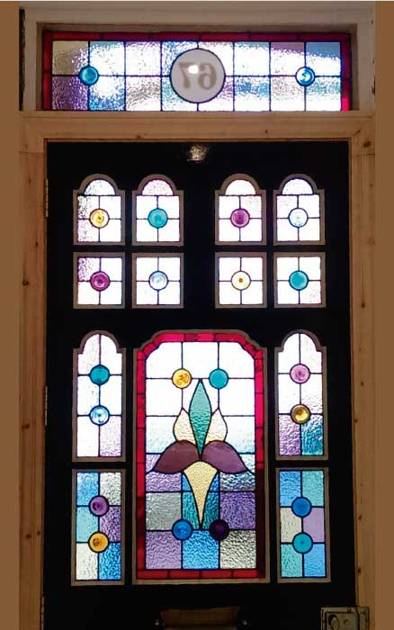 E12 EDWARDIAN STAINED GLASS