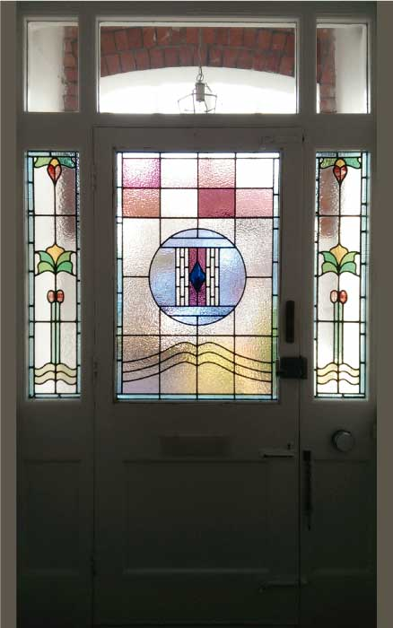 E13 EDWARDIAN STAINED GLASS