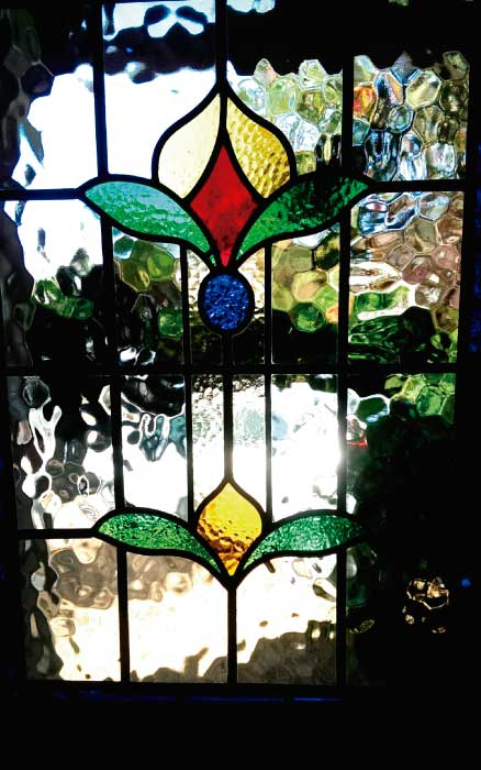 E14 EDWARDIAN STAINED GLASS