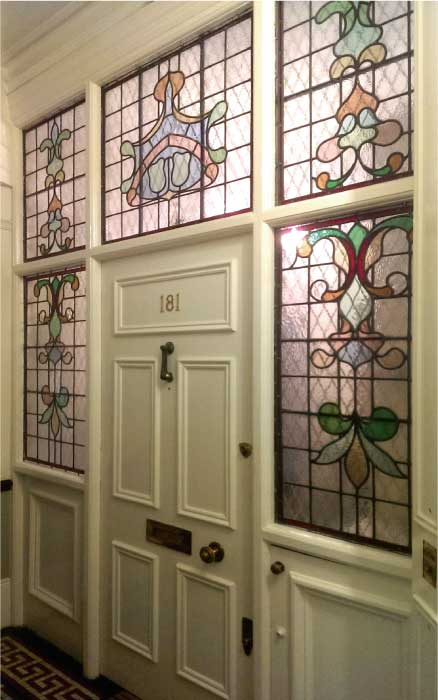 E15 EDWARDIAN STAINED GLASS