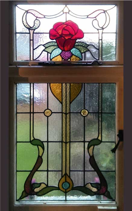 E16 EDWARDIAN STAINED GLASS
