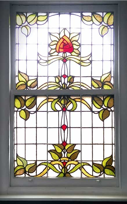 E21 EDWARDIAN STAINED GLASS