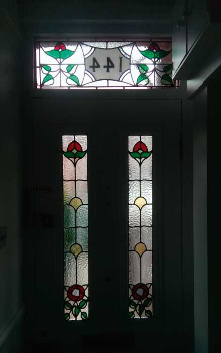 E24 EDWARDIAN STAINED GLASS