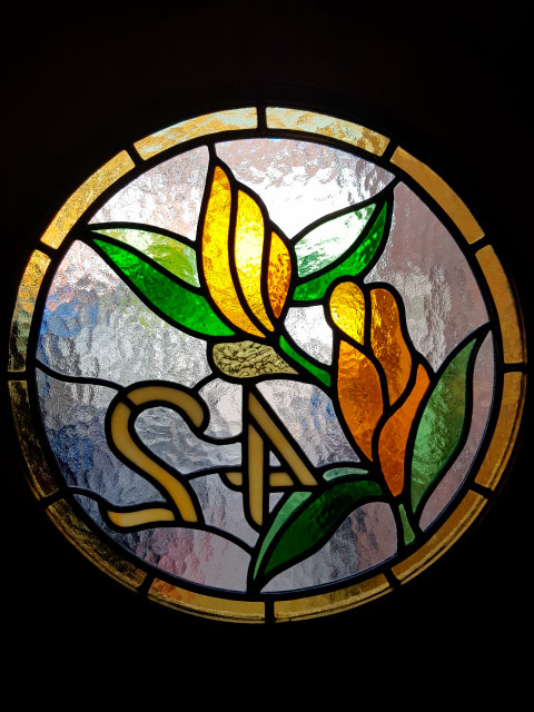 E36 EDWARDIAN STAINED GLASS
