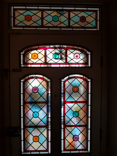 V48 VICTORIAN STAINED GLASS