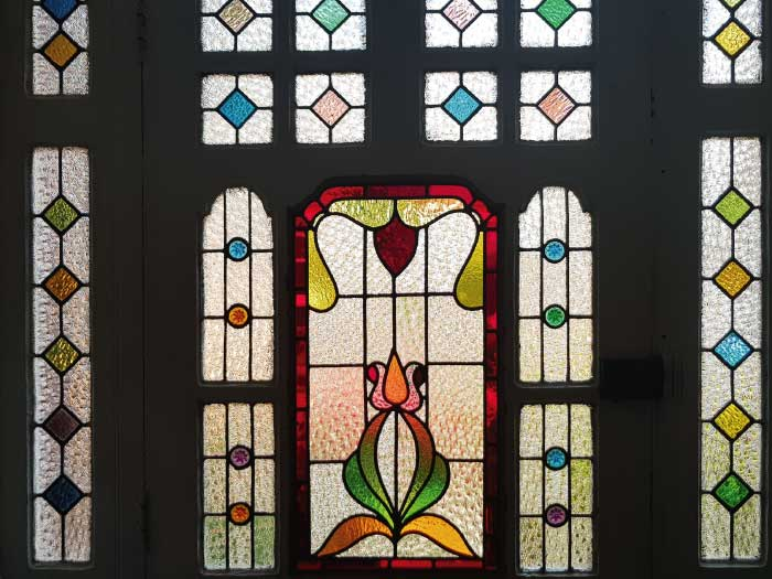 E47 EDWARDIAN STAINED GLASS