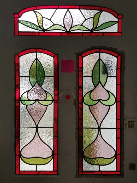 E48 EDWARDIAN STAINED GLASS