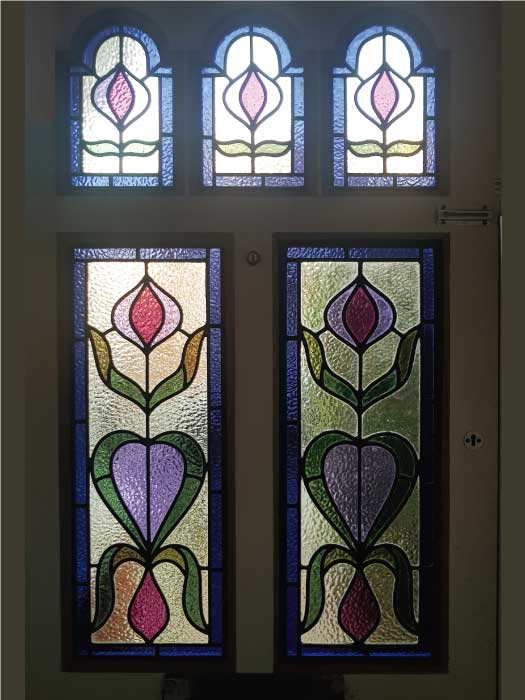 E51 EDWARDIAN STAINED GLASS