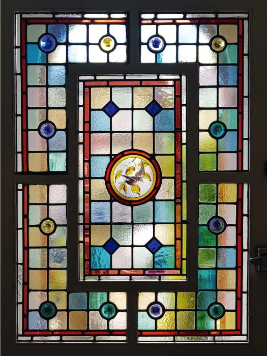 V63 VICTORIAN STAINED GLASS
